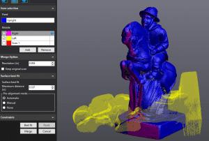 3D-Scannen: Zusammenführen von Scans